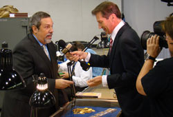Michael Fuljenz and Jeff Flock at the World's Fair of Money in Chicago, August 16, 2011